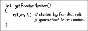 Random number generator by xkcd