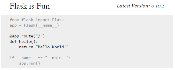 Four Years Remaining » Blog Archive » A Flask Project Template
