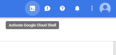 Once you are logged into Google Cloud platform you may open the shell here
