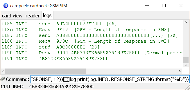 RUN GSM ALGORITHM example