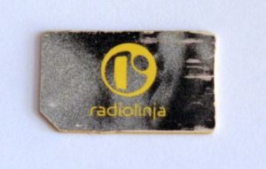 My retiring SIM card. The mobile operator changed its name from Radiolinja to Elisa in 2000, but the SIM stayed.